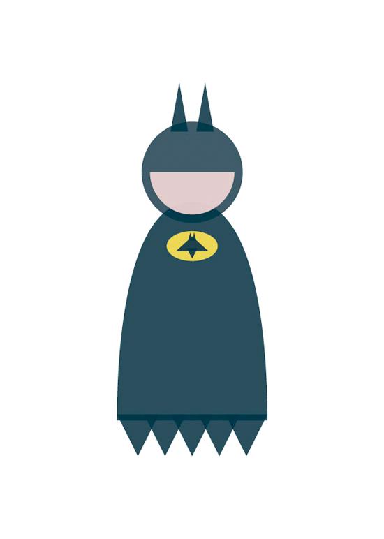 batman minimal shapes illustration