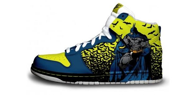 batman nike shoe design