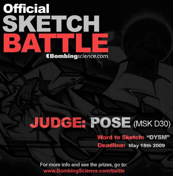Graffiti Sketch Battle Contest