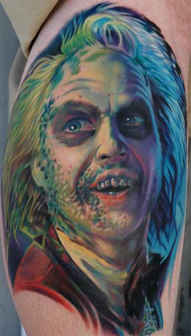 beetlejuice tattoo by Nikki Hurtado