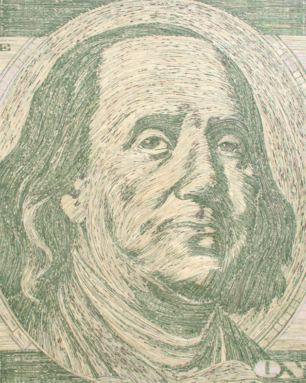 ben franklin money portrait