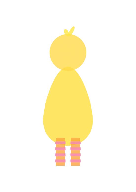 big bird minimal illustration