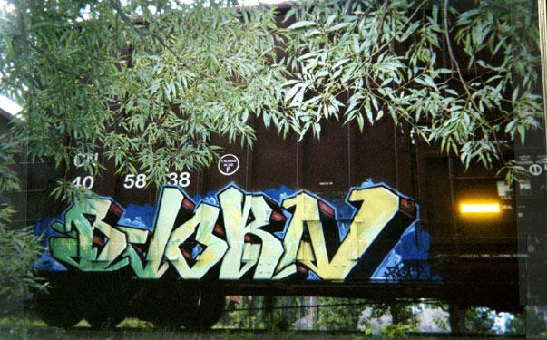 Bjorn Graffiti Freight Train