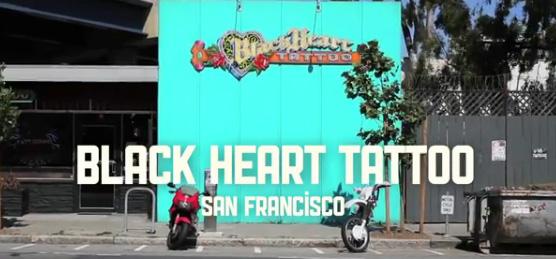 black heart tattoo
