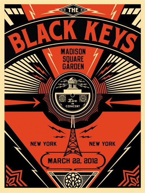 black keys shepard fairey poster