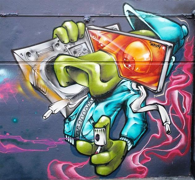 bonzai graffiti character