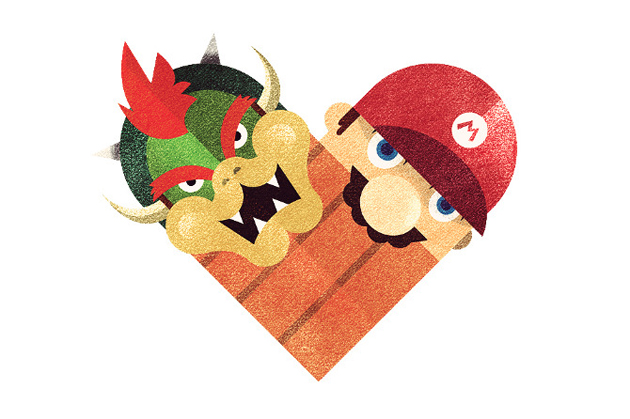 bowser mario enemy heart