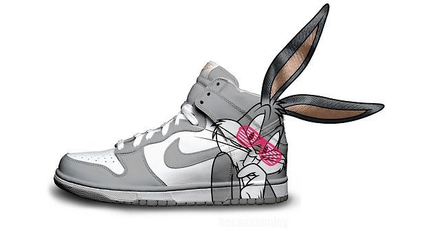 bugs bunny nike shoe design