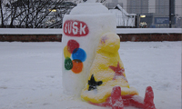 Busk Snow Sculpture