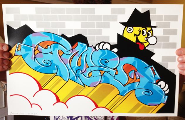 cameo graffiti illustration
