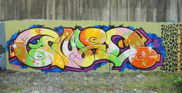 cameo wall graffiti painting