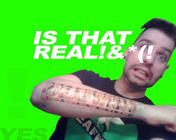 Deafwish Arm Tattoo