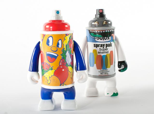 canman graffiti vinyl toys pose dabs myla