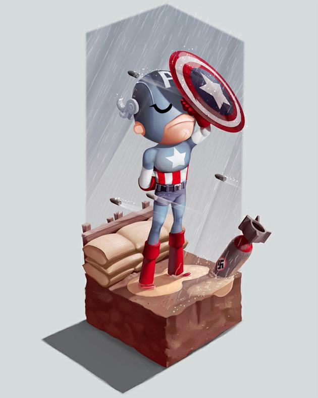captain america illustration by andrew wilson