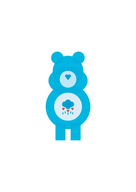 care bears minimal shapes