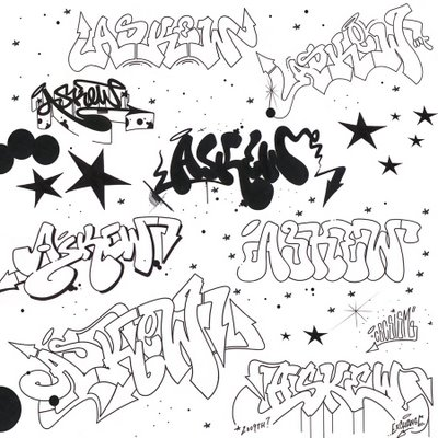Askew Graffiti Sketches By Cecs