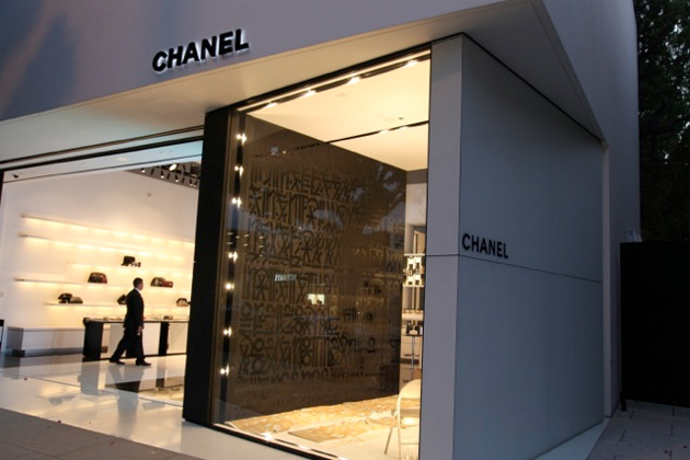 chanel painted by retna