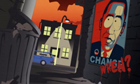 Shepard Fairey Art on South Park