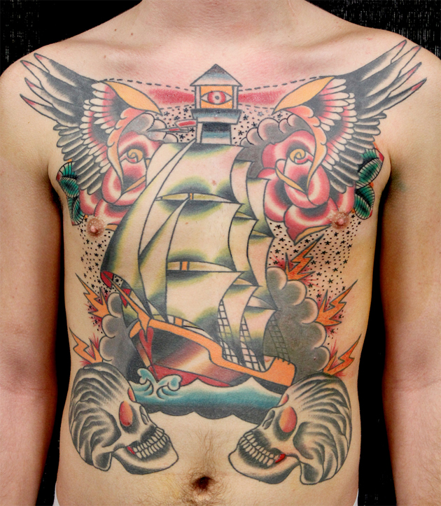 chest ship tattoo myke chambers
