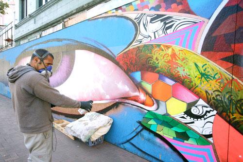 chor boogie market street mural