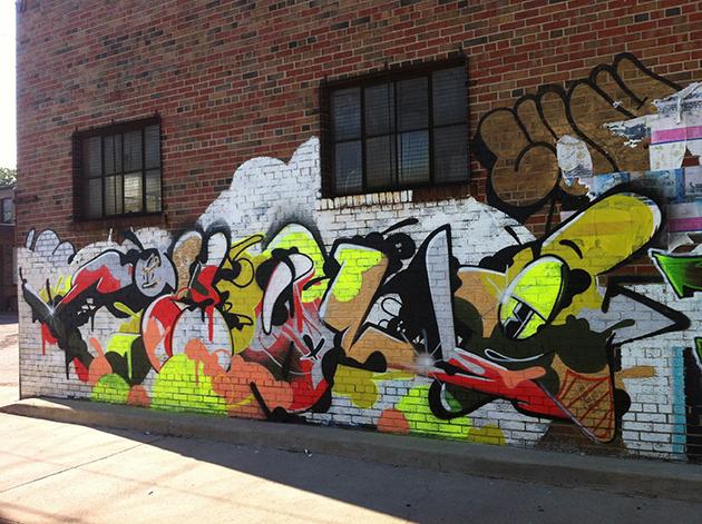 chou graffiti wall new toronto