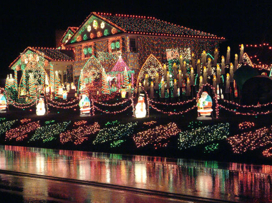 one million christmas lights on a house in delaware