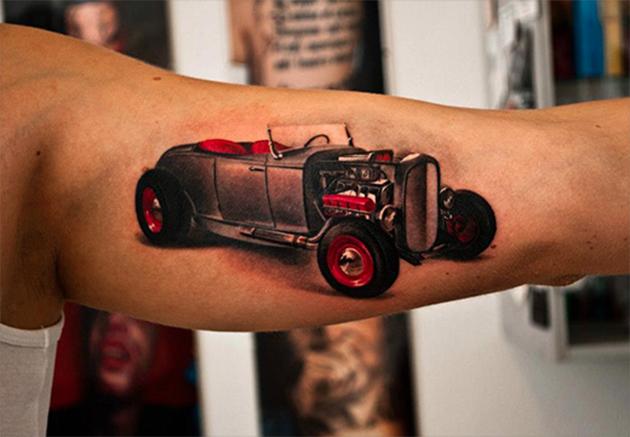 classic car tattoo