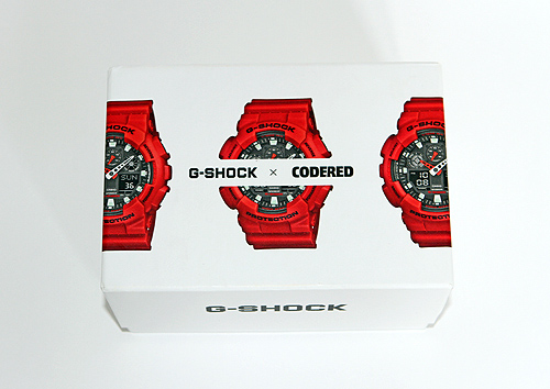 code red g-shock watch