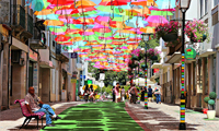 Colorful Umbrellas Spotted in Portugal