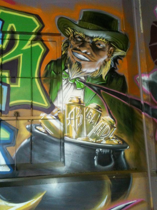 cortes leprichaun graffiti