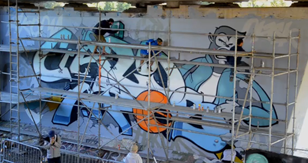 crazy apes graffiti in ottawa