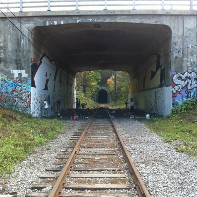 graffiti tunnel quebec city