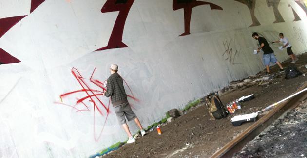 crazy apes graffiti in quebec city