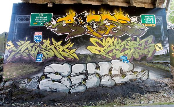 Mistx, Fezat, Sino, and Arose graffiti