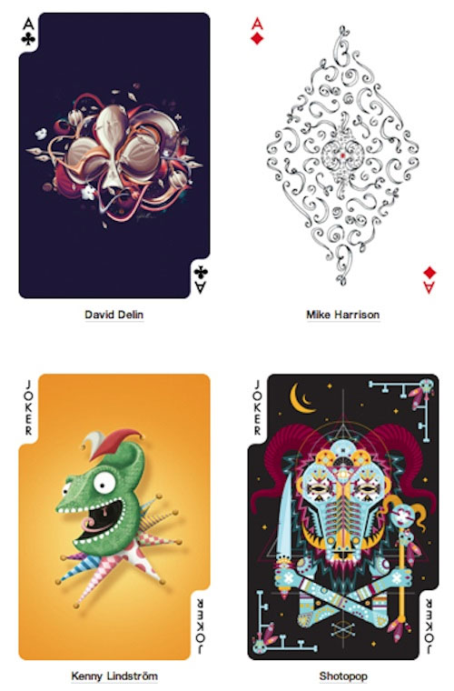 playing cards designed by artists