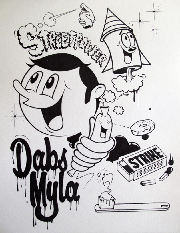 dabs myla coloring book page