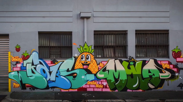 dabs myla graffiti in melbourne