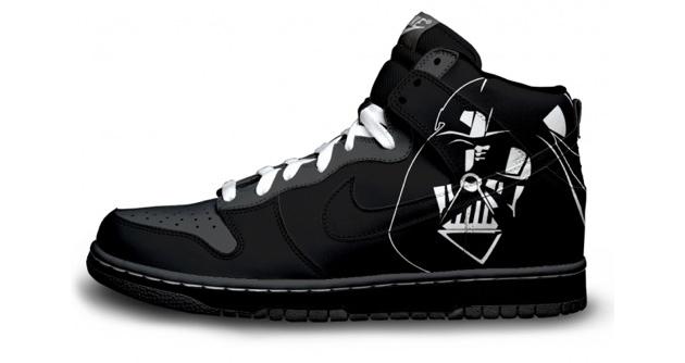 darth vader nike shoe design