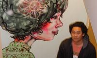 David Choe Paints Facebook Offices