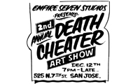Death Cheater Benefit Art Show for Benny Diar