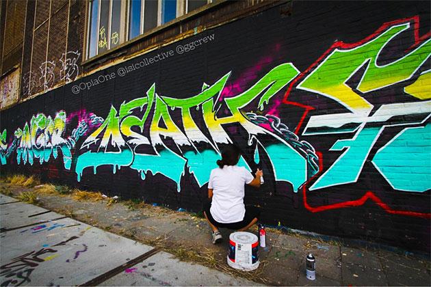 death graffiti wall