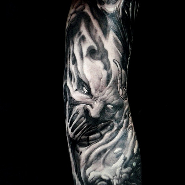 demon tattoo by Toxyc Xlr