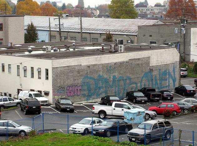 demos owen graffiti fire extinguisher tag