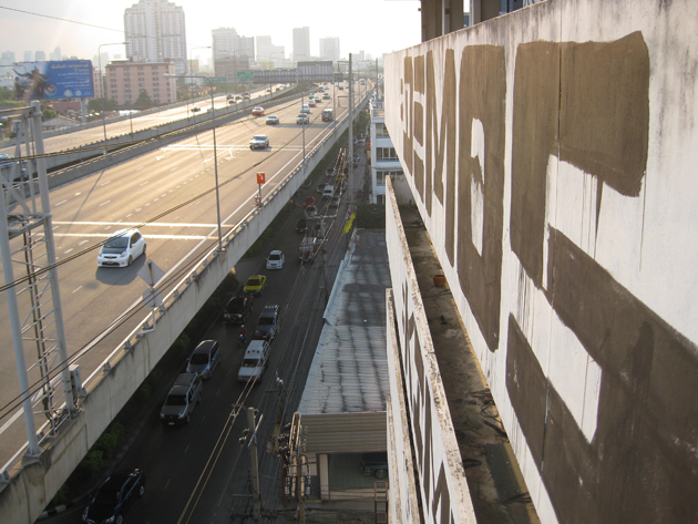 Demos Graffiti Roller in Bangkok