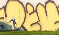 Demos & Dekor Graffiti Black & Yellow