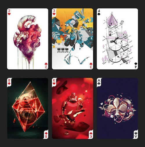 designer playing cards