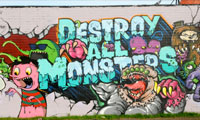Destroy All Monsters Graffiti Wall