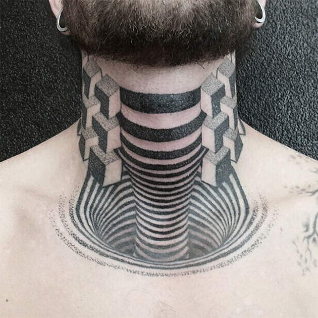 detailed neck tattoo by amos