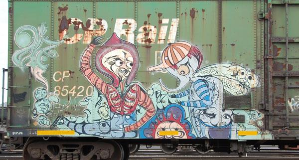 Deuce Seven Graffiti Boxcar
