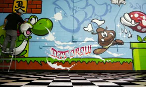 Dissizit Super Mario Brothers Graffiti
